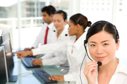 asian telemarketing team