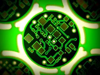 Omni Circuit Boards Collage Border