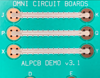 Superconductive Aluminum Circuit Trace-1